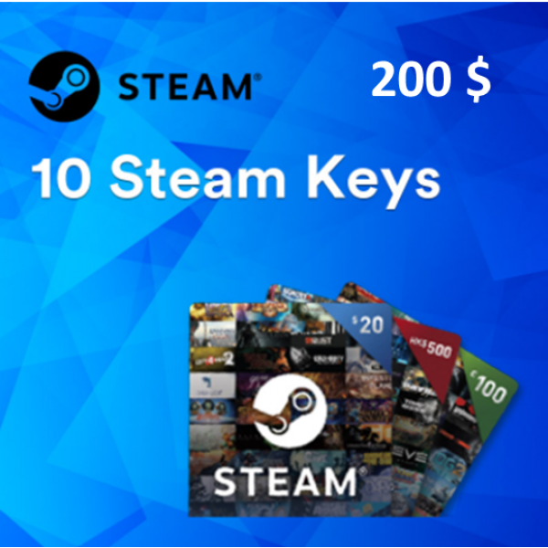 Steam /PC | 10 Random Steam Keys Worth 200$