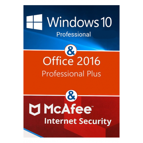 Windows 10 Pro + Office Pro Plus 2019 + Mcafee Internet Security