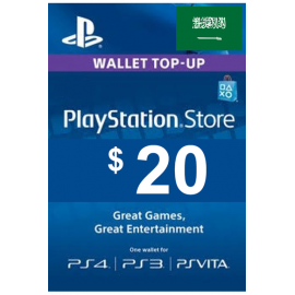 Psn - Playstation Network - Gift Card $20 (USD) (KSA)