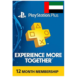 Psn - Playstation Plus - 365 Days - 12 Months - One Year (UAE) Subscription