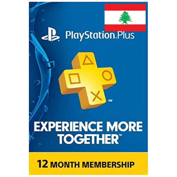 Psn - Playstation Plus - 365 Days - 12 Months - One Year (Lebanon) Subscription