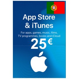 Apple Itunes Gift Card - 25€ (Eur) (Portugal) App Store