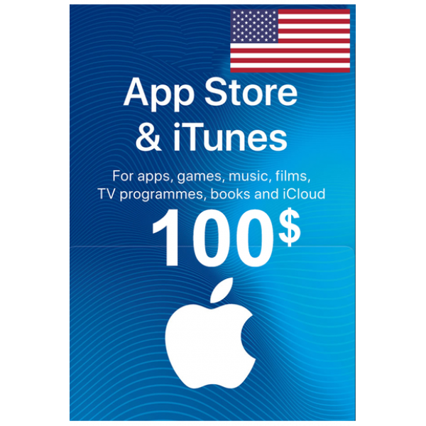 Apple Itunes Gift Card - $100 (USD) (USA) App Store