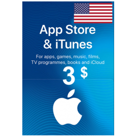 Apple Itunes Gift Card - $3 (USD) (USA) App Store