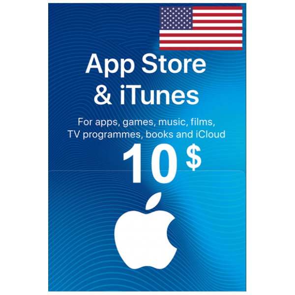 Apple Itunes Gift Card - $10 (USD) (USA) App Store
