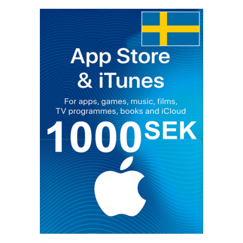 Apple Itunes Gift Card - 1000 (Sek) (Sweden) App Store