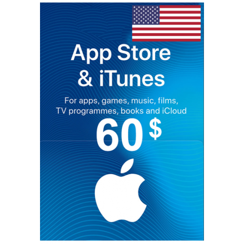 Apple Itunes Gift Card - $60 (USD) (USA) App Store