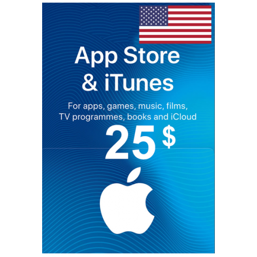 Apple Itunes Gift Card - $25 (USD) (USA) App Store